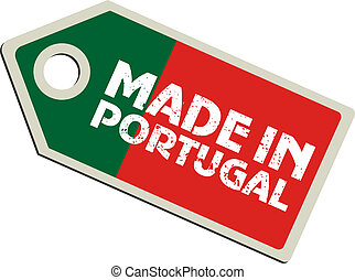vector label Made in Portugal