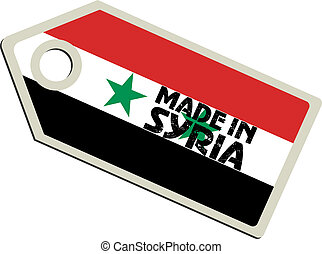 vector label Made in Syria