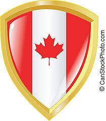 golden emblem of Canada