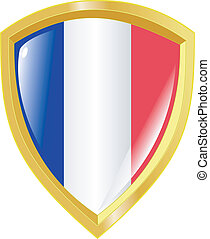 golden emblem of France