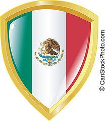 golden emblem of Mexico