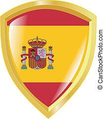 golden emblem of Spain