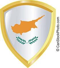 golden emblem of Cyprus