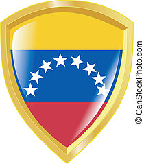 golden emblem of Venezuela