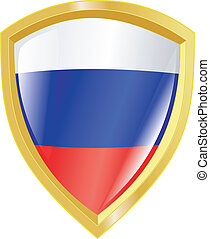 golden emblem of Russia