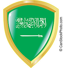 golden emblem of Saudi Arabia
