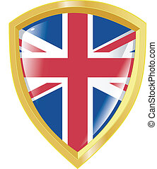 golden emblem of UK