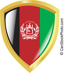 golden emblem of Afghanistan
