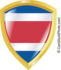 golden emblem of Costa Rica