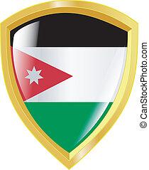 golden emblem of Jordan