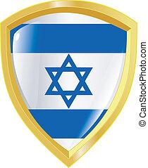 golden emblem of Israel