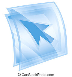 curcor icon blue, isolated on white background