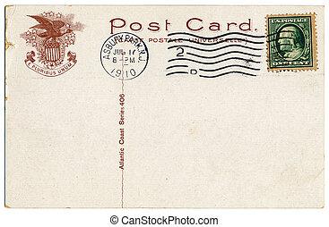 vykort,  1910, atlanten, kust