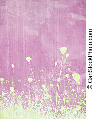 Meadow flower pink background