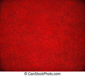 Antique cracked red leather background