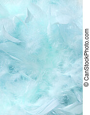 Cloudy blue sky fluffy feather background - Cloudy blue sky...