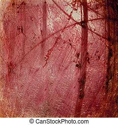 Grunge red luminous cracked background