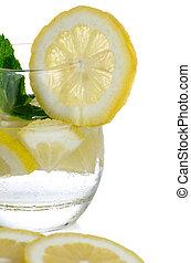 Glass of fresh cool tonic