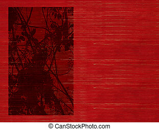 Big blossom silhouette on slatted background