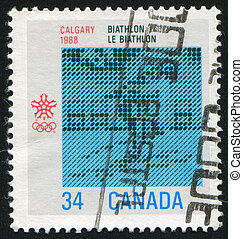 poststamp - CANADA - CIRCA 1987: stamp printed by Canada,...