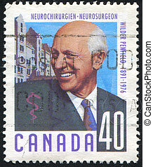 poststamp - CANADA - CIRCA 1991: stamp printed by Canada,...
