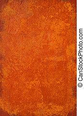 Burnt orange grunge plaster background