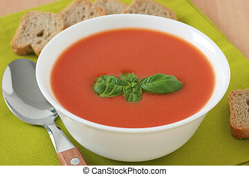 tomato soup with basil