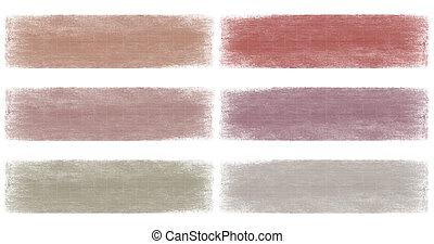 gris, baya, descolorido, Grunge, bandera, Conjunto, aislado