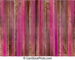 Brown and pink watercolor wash stripes