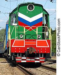 multicolor, locomotora, Primer plano