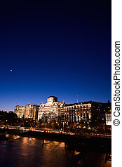 London Victoria Embankment Night View seen from Waterloo...