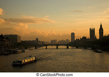 London Landscape Westminster - Westminster Bridge seen from...