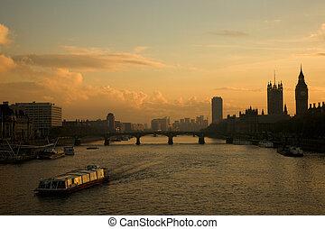 London Landscape Westminster - Westminster Bridge seen from...