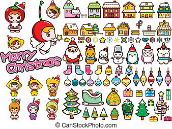 Christmas Design Elements - Illustration of Christmas Design...
