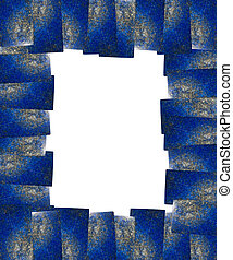 Lapis lazuli frame isolated with clipping path