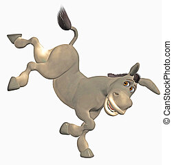 tecknad åsna
