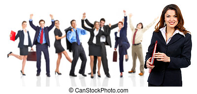 Business people team - Group of happy business people...
