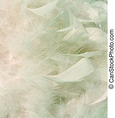 Smoky snow white and pink feathers background