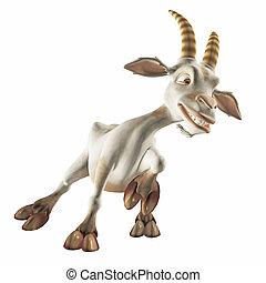 toon goat - 3d