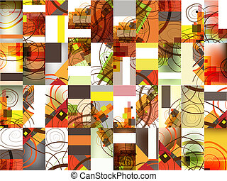 Abstract calling cards set