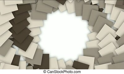 swirl square paper cards tunnel hole and spiral...