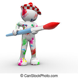 Painter - 3D people- human character- painter 3d render...