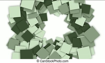 square paper cards and mosaics shaped tunnel hole,computer...