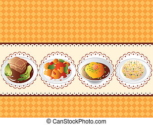 cartoon Chinese food card