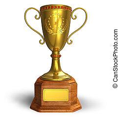or, trophée, tasse
