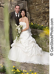 wedding - beautiful bride and groom