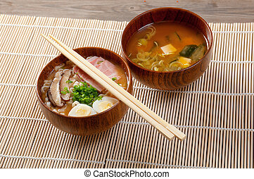 delicious miso ramen japanese soup