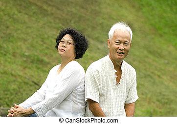 asian couple outdoor