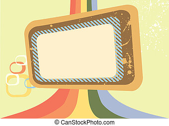 Vector grunge frame for design.Abstract background