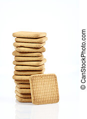 Stack of cookies close up